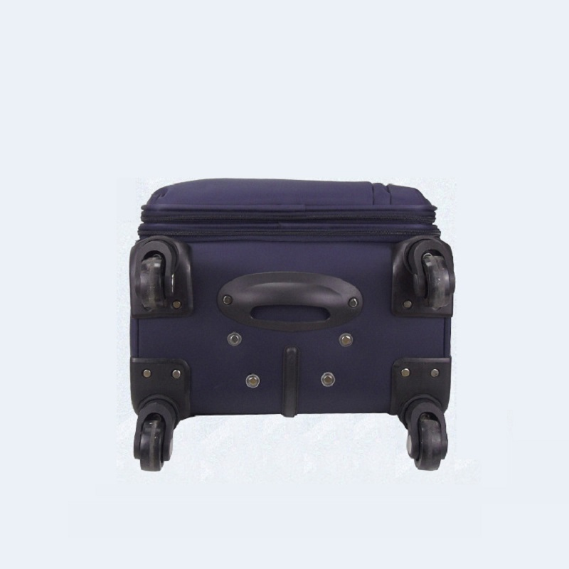 Soft nylon luggage trolley bag