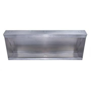 Stainless steel urinal troughs
