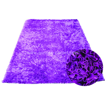 Polyester Stripe Shaggy Rug