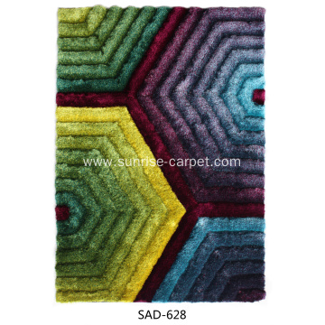 polyester popular 3D design shaggy carpet