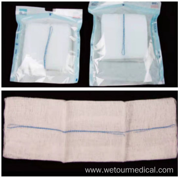 Disposable White Absorbent Sterile Cotton Medical Gauze Swab