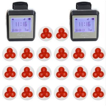 Wireless Watch Restaurant Coaster Pager Calling System Watch Guest for Hospital Waiter Nurse 433MHz Restaurants Equipment