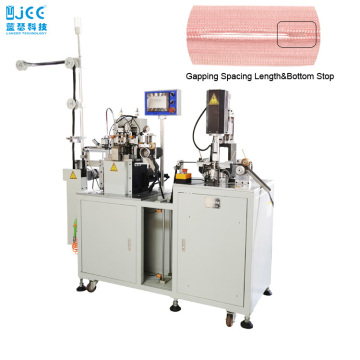 Automatic Nylon Zipper Gapping And Bottom Stop Machine