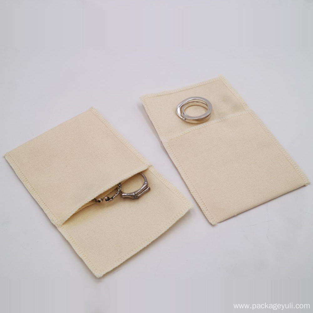 highly custom jewelry packing cotton envelope bag