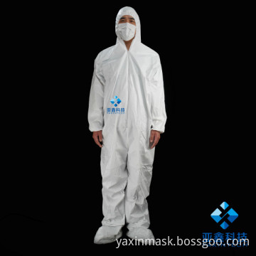 White protective coverall