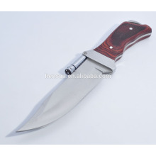 Hunting Camping Knife with LED Light Flashlight