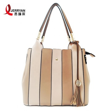 Geometric Handbag Tote Bag for Young Ladies