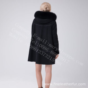 Australia Merino Shearling Hooded Jcket For Women