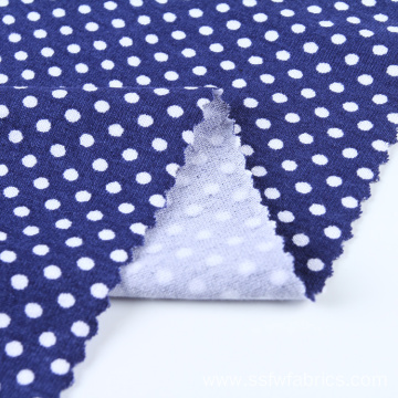 Knit Printed Rayon Stretch Polka Dot Spandex Fabric