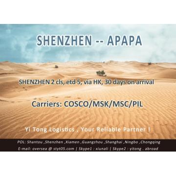 Shenzhen Sea Freight to Apapa