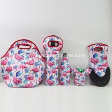 Wholesale cheap price neoprene lunch cooler bags set