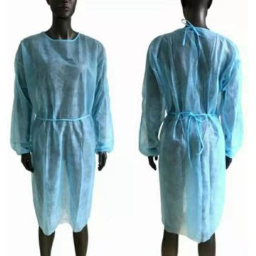 waterproof  PP Non-woven Isolation Gown