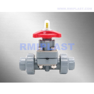 PVC Diaphragm Valve Union Type PN10