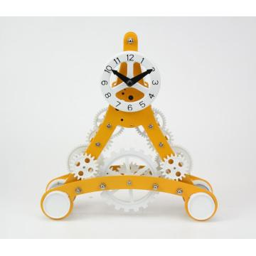 Mini Size Eiffel Tower Gear Desk Clock