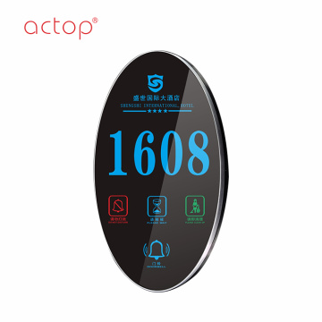 hotel digital Led Back light electronic door plate