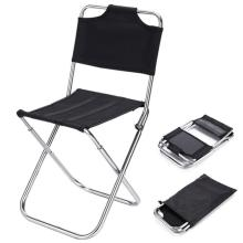 1000D polyester black Folding High Back Camping Chair