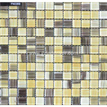 Mixed Color Glass Stone Mosaic Tiles Sheets