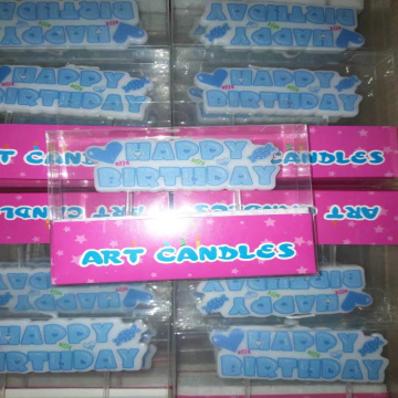 Blue Party Birthday Letter Candles