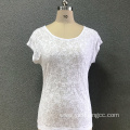 Women's cotton fashion printed knitted top