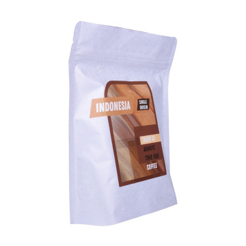 Biodegradable White Kraft Paper Foil Lined Standup Pouch
