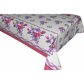 Decorative Elegant Tablecloth with Non woven backing