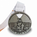 Personalized custom silver sports award medals