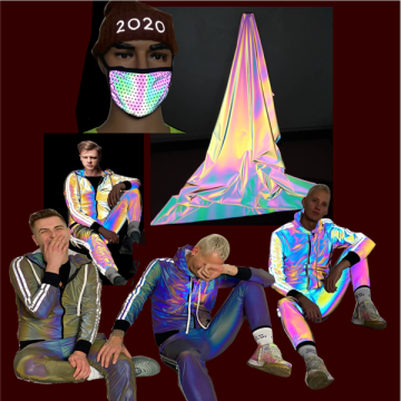 Reflective Rainbow Color Changing Coat