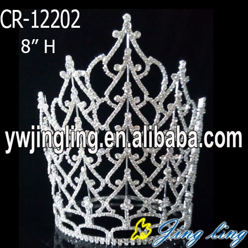 "Hot sell 8"" Large pageant crowns for sale"