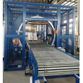 Stretch wrapping machine for motor