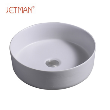 Art round lavatory washing hand light grey color sink art basin ceramic