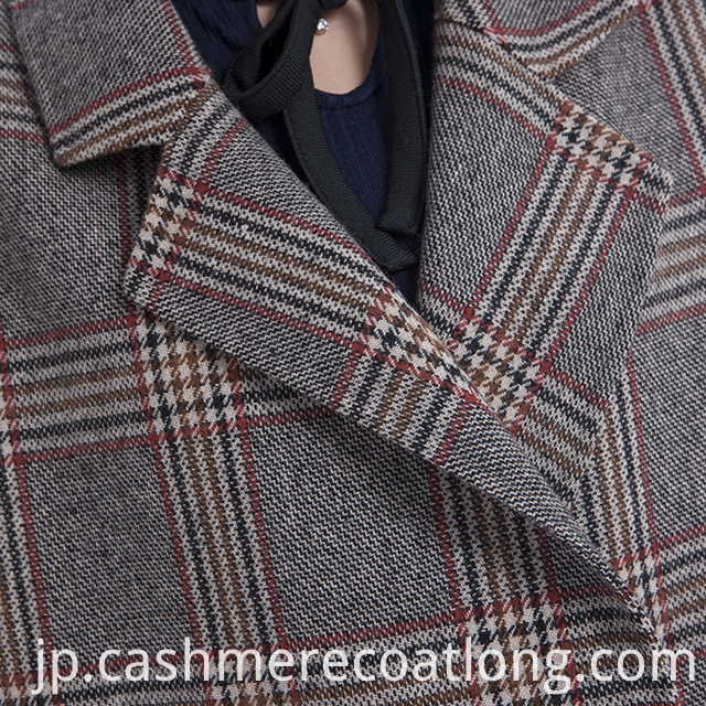 Cashmere coat collar