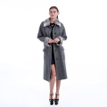 Fashionable cashmere coat with fur collar