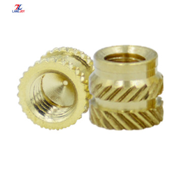 M4 compressed knurled  brass insert nut