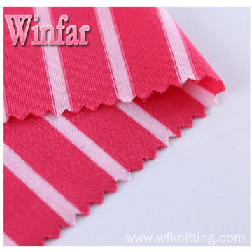 Textile Single Jersey Yarn Dye Spandex Polyester Fabric