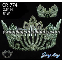 Full Round Rhinestone Pageant Crowns For Sale