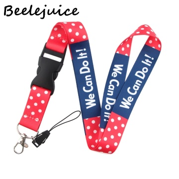 Feminist We can do it Neck Strap Lanyards ID badge card holder keychain Mobile Phone Strap Gift Ribbon webbing necklace gifts