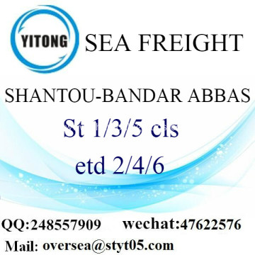 Shantou Port LCL Consolidation To Bandar Abbas