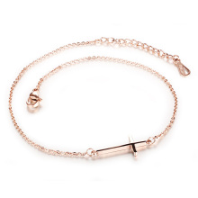 11 inch womens chain cross ankle bracelet