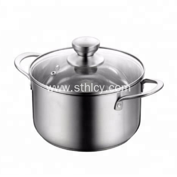 Cookware Stainless Steel Pot With Glass Cover