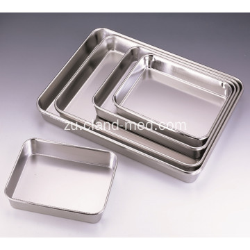 I-Stainless iron Full Perforated Silver Square Tray