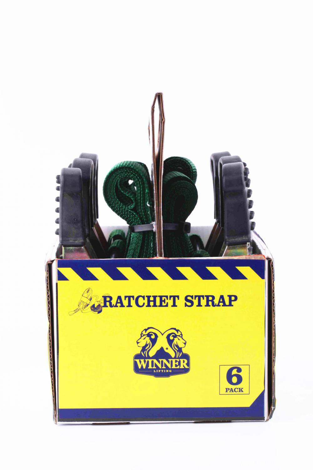 Ratchet Tie Down Green Lashing Strap with 6pcs