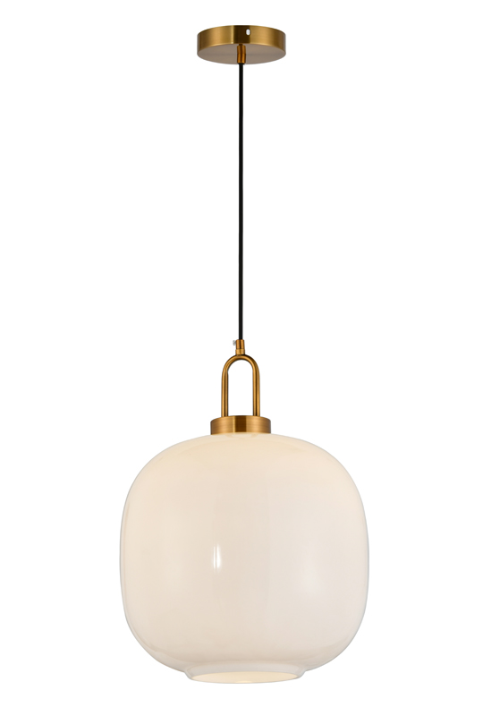 Indoor White Glass Lamp
