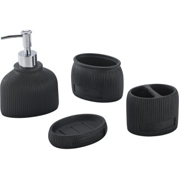 Black Tasteful Bathroom Accessory Set