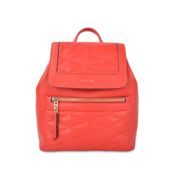 Real Leather Girls Camera Backpack Candy Color