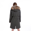 Fur coat fur collar parka