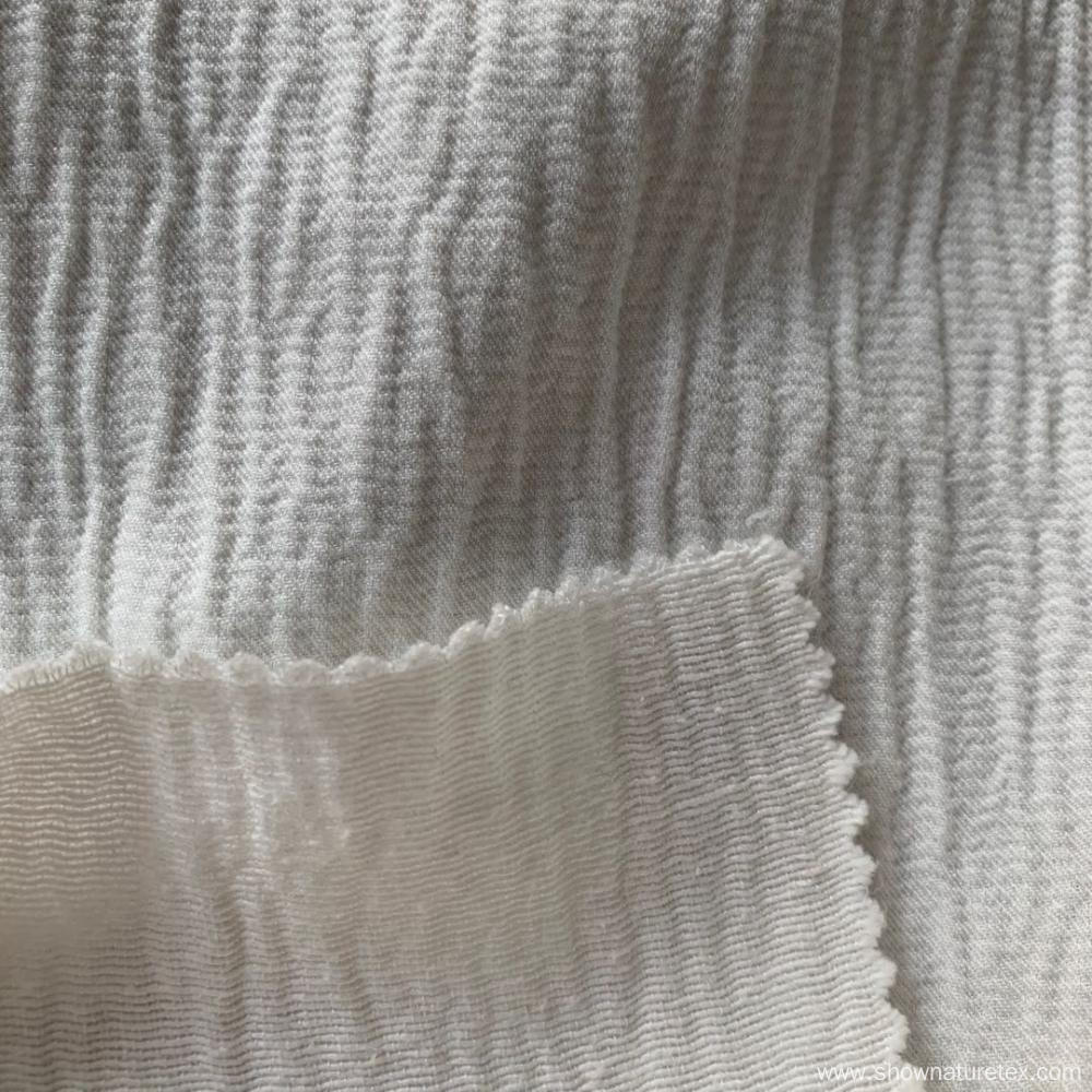Cotton Viscose Wave Effect Fabric