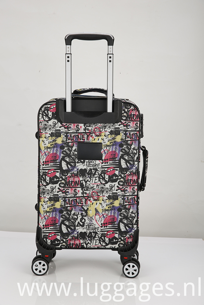 Printed Spinner Luggage Case