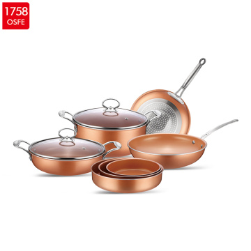 Non-stick Coating Aluminum Copper Cookware Set