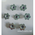 6 Prongs Carbon steel Zinc Plating Tee Nuts