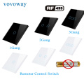 Vovoway RF433 frequency wireless remote control optional paste connection remote touch switch to use